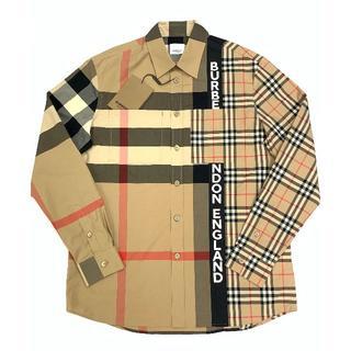 BURBERRY - 新品 20-21AW Burberry オーバーサイズ コットン シャツ