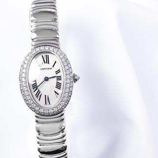 Cartier - 【仕上済】カルティエ ベニュワール WG 純正 ダイヤ レディース 腕時計