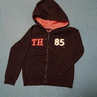 トミーヒルフィガー(TOMMY HILFIGER)のTOMMY HILFIGER   キッズパーカー  紺 116(ジャケット/上着)