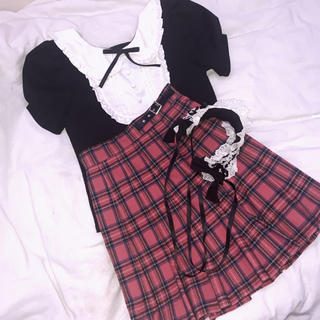 アンクルージュ(Ank Rouge)のAnkのブラウス ヘッドドレス スカート ワンピース(シャツ/ブラウス(半袖/袖なし))