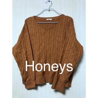 ハニーズ(HONEYS)のVネックニット セーター(ニット/セーター)