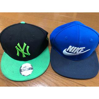 ニューエラー(NEW ERA)の子供 帽子 ニューエラ ナイキ 2個セット 美品(帽子)