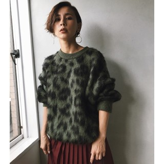 Ameri VINTAGE - KID MOHAIR LEOPARD KNIT アメリヴィンテージ
