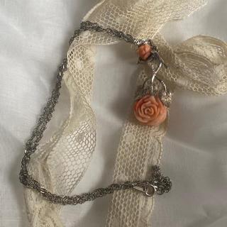 ロキエ(Lochie)のorange rose necklace 80s(ネックレス)
