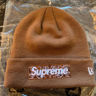 シュプリーム(Supreme)のSupreme New Era Box Logo Beanie Brown(ニット帽/ビーニー)