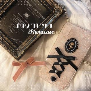 エブリン(evelyn)の200円引きセール♡ゴシックピンクiPhoneケース♥🥀量産 地雷 バラ ピン(iPhoneケース)