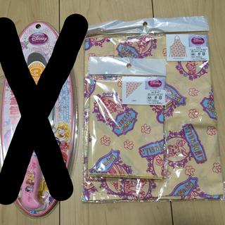 ディズニー(Disney)の新品 ディズニープリンセス エプロン 三角巾 セット 女の子(ファッション雑貨)