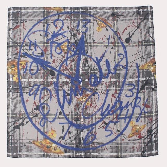 Vivienne Westwood(ヴィヴィアンウエストウッド)のヴィヴィアン  チェックハンカチ レディースのファッション小物(ハンカチ)の商品写真