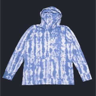 ホリスター(Hollister)の★新品★ホリスター★タイダイ長袖パーカーTシャツ (Blue/XL)(パーカー)