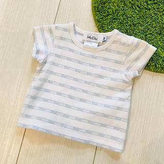 ベビーディオール(baby Dior)の美品 ベビーディオール 3M ボーダー Tシャツ トップス(Tシャツ)
