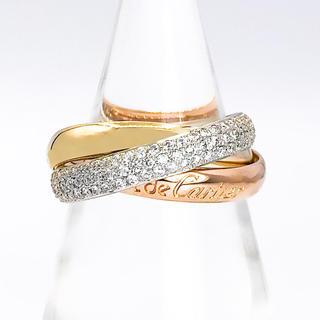 カルティエ(Cartier)の【仕上済】カルティエ トリニティリング ダイヤ 13号 レディース 指輪(リング(指輪))