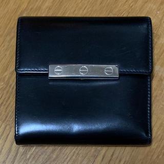 カルティエ(Cartier)のカルティエ 3折財布 ブラック(折り財布)