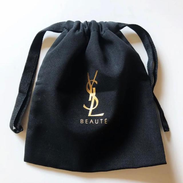 Yves Saint Laurent Beaute(イヴサンローランボーテ)のイヴ・サンローラン 非売品巾着ポーチ ブラック レディースのファッション小物(ポーチ)の商品写真