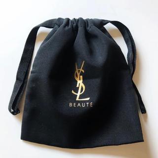 Yves Saint Laurent Beaute - イヴ・サンローラン 非売品巾着ポーチ ブラック