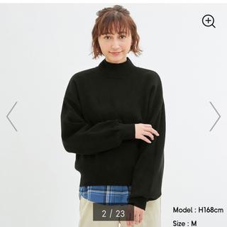 GU - GU スウェットライクハイネックセーター Mサイズ