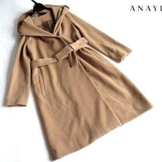 アナイ(ANAYI)の美品 ANAYI アナイ フッディー コート 36(ロングコート)
