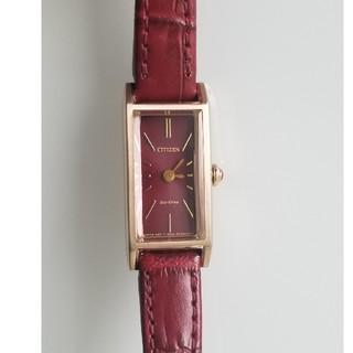 CITIZEN - CITIZEN kii レッド 腕時計