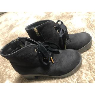 ヌォーボ(Nuovo)のNUOVOショートブーツ 黒 22  ★ABCマート★(ブーツ)