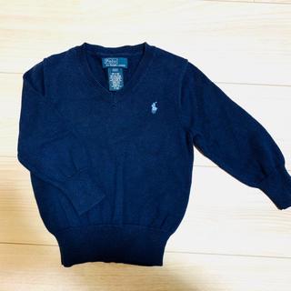 POLO RALPH LAUREN - POLO Vネックセーター 2T/90cm ネイビー