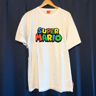 ニンテンドウ(任天堂)のnintendo SUPERMARIO ロゴTシャツ (Tシャツ/カットソー(半袖/袖なし))