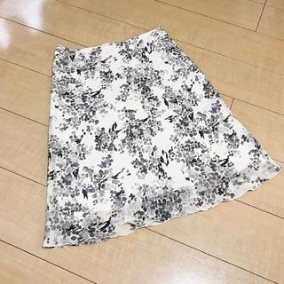 インディヴィ(INDIVI)の《新品・送料込み》定価7000円 高見え INDIVI シフォンフレアスカート(ひざ丈スカート)
