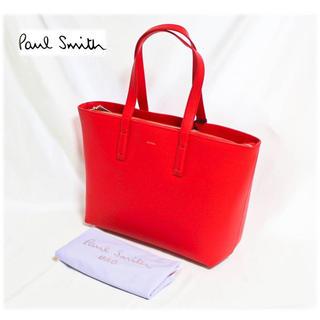 ポールスミス(Paul Smith)の 《ポールスミス》新品 クラシックレザー トートバッグ ストライプ  赤 (トートバッグ)