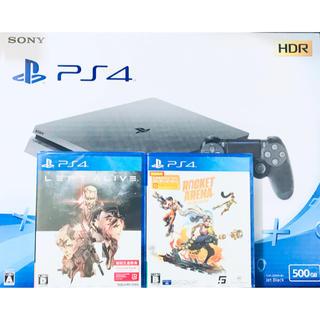 PlayStation4 - 新品 PS4 本体 500GB ジェットブラック 未開封ソフト2本セット送料無料