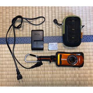 PENTAX - PENTAX Optio W-90  オレンジ 防水防塵デジカメ