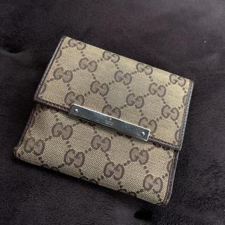 Gucci - GUCCI GGキャンバス 2つ折り財布
