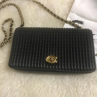 COACH - COACH☆バッグ☆斜め掛け可☆黒色☆クラッチバッグ☆