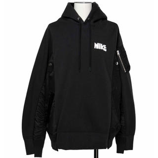 サカイ(sacai)の新品 送料無料 Nike x sacai Hoodie ブラック 黒 XL(その他)
