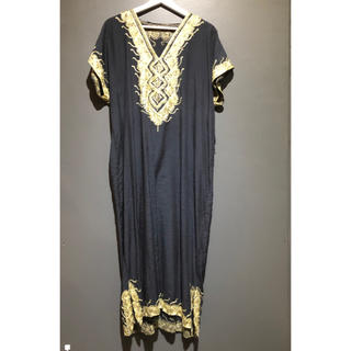 サンタモニカ(Santa Monica)のヴィンテージエスニックデザインドレス(ロングワンピース/マキシワンピース)
