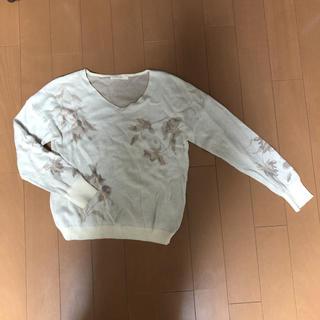 ショコラフィネローブ(chocol raffine robe)のフラワージャガード ニットプルオーバー(ニット/セーター)