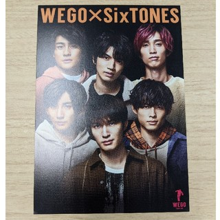 Johnny's - SixTONES ポストカード WEGO