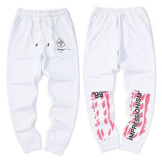 オフホワイト(OFF-WHITE)の新品Off-whiteズボン男女兼用オフホワイト A07(スラックス)