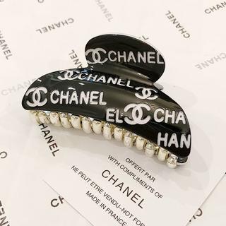 CHANEL - CHANEL シャネル バンス ブラック ヘアークリップ ヘアーアクセサリー