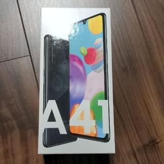 サムスン(SAMSUNG)のgalaxy A41 ブラック SIMフリー UQモバイル(スマートフォン本体)