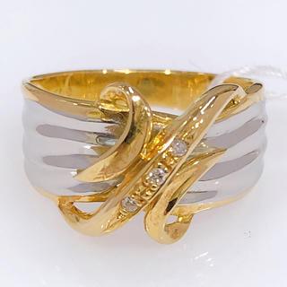 K18 PT900 ダイヤモンド コンビリング(リング(指輪))