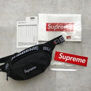 Supreme - 18ss Supreme Waist Bagブラック ウエストバッグ