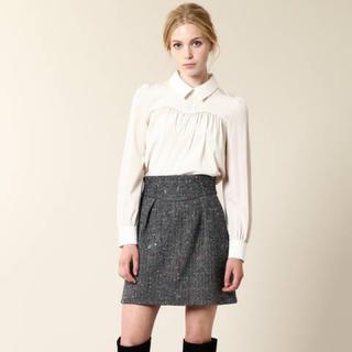 ジルスチュアート(JILLSTUART)のJILLSTUART カラフルネップツイード台形スカート(ひざ丈スカート)