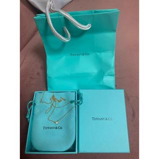 Tiffany & Co. - 正規品 ティファニー 一粒ダイヤモンドネックレス K18 ゴールド