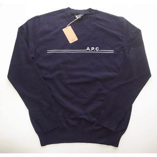 A.P.C - APC PULL EPONYME 19A ロゴ ニット navy sizeL