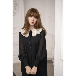 herlipto Romantic Volume Sleeve Dress