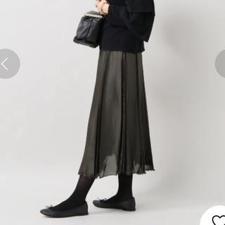 IENA - 【美品】IENA LA BOUCLE サテンランダムプリーツスカート グレー