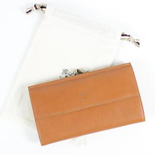 IL BISONTE - 新品 イルビゾンテ 長財布 ガマ口 Wホック 二つ折り財布 大容量 コインケース
