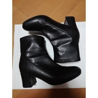 ナイスクラップ(NICE CLAUP)のNICE CLAUP ナイスクラップ ショートブーツ  レザー ヒール ブーツ(ブーツ)