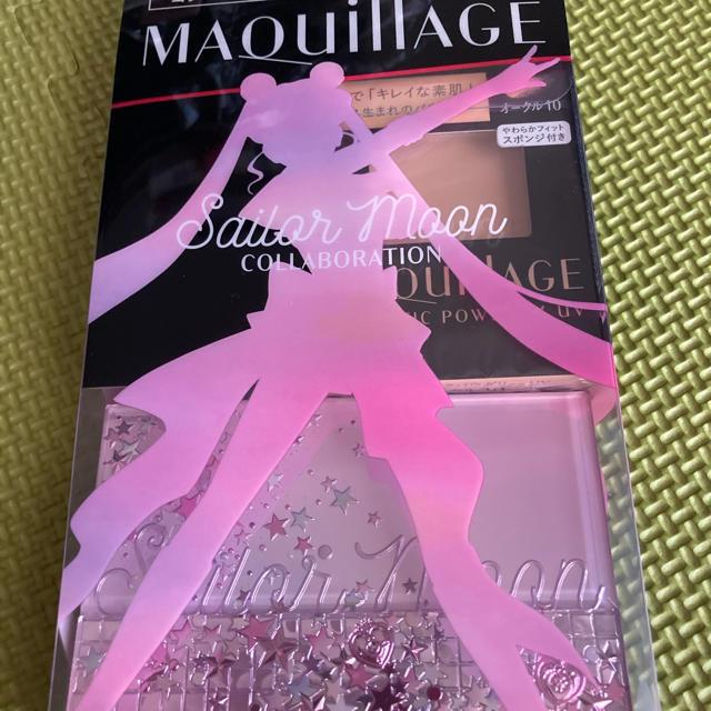 MAQuillAGE(マキアージュ)のマキアージュ限定セーラームーンパウダー&コンパクトケース付き オークル10 コスメ/美容のベースメイク/化粧品(ファンデーション)の商品写真