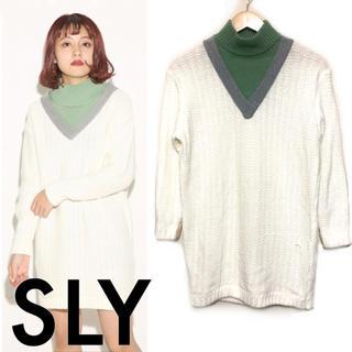 スライ(SLY)のSLY ♡ ニットワンピ(ミニワンピース)