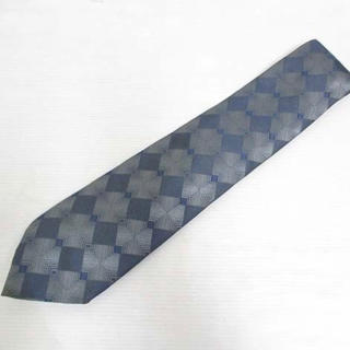 Gucci - グッチ GUCCI シルク100% 総柄 ネクタイ 剣先9.5cm ダークグレー