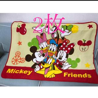 ディズニー(Disney)のディズニー フリースブランケット 2枚(キャラクターグッズ)